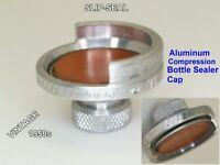 Vintage Slip Seal Bottle Cap Reusable Aluminum and Rubber Screw Down 1950s