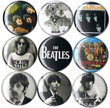 set of 9 Beatles pins buttons john lennon paul mccartney george harrison ringo
