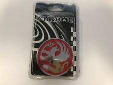 Chrome 3D Vauxhall emblem badge rear boot badge red