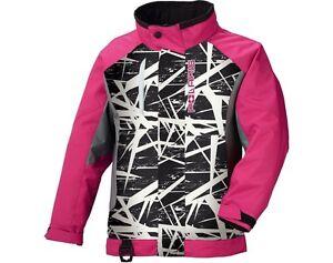 POLARIS GIRLS YOUTH Pink Cracked Ripper Sledding Winter JACKET- Size XL- 14 / 16