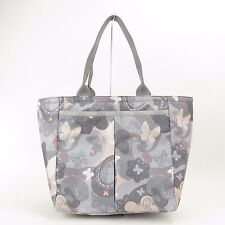 LeSportsac Everygirl Tote No Pou All A Flutter Gray Synthetic Bag NEW!