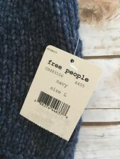 People Mountain View Knit Tank Tunic Top Navy Blue Size Large L