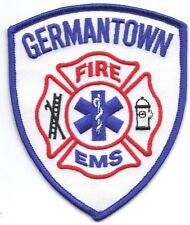 **GERMANTOWN WISCONSIN FIRE DEPARTMENT FIRE EMS FIRE PATCH**