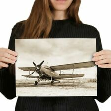 A4 - Old Airplane Vintage Aviation Plane Poster 29.7X21cm280gsm #21954