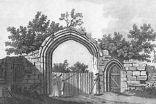 DUNSTABLE. Gate of Priory, Bedfordshire. Grose. 18C 1795 old antique print