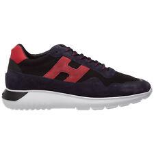 Hogan sneakers men interactive³ HXM3710AJ18N7R50BV Blue lagoon suede shoes