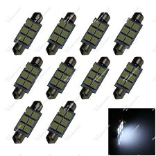 10X White 44MM 45MM 6 5050 LED Interior Light Festoon Bulbs Dome Lamp Auto ZI351