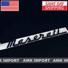 Maserati Trunk Nameplate Logo Emblem Badges Ghibli OEM Replacement Gloss Black