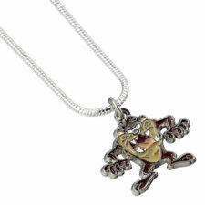 Looney Tunes Taz Devil Cute Necklace Pendant - Silver Plated Carat Cartoons