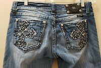 Miss me denim Capri jeans Distressed. Size 30 Rise 8 Waist Flat 16=32X21