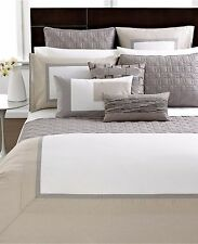 Hotel Collection Modern Block Twin Duvet Cover Beige Y264