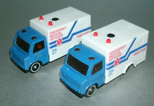 Two 1/64 Scale Emergency Rescue Ambulance Diecast & Plastic Toy Vehicles (EMS)
