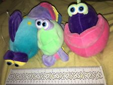Lot of 3 Funny Friends Jennifer Mazur Baby Nursery Decor Hanging Plush Fish READ