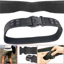 Heavy Duty policía Ejército guardia de seguridad paramédico negro de liberación rápida de cinturón de herramientas