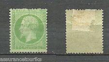 FRANCE - 1862 YT 20 - TIMBRE NEUF* - 5c VERT