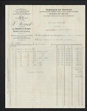"""PORT-D'ENVAUX (17) USINE de MOYEUX & ROUE """"FERRET & SICOT / J. FERRET Succ"""" 1930"""
