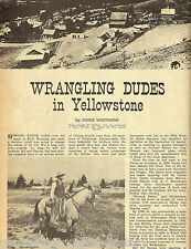 Wrangling Dudes of Yellowstone Park - Guided Tours