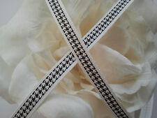 * Lace Market * 5 Metres Black White Grosgrain Ribbon Trim Berisfords 8 mm