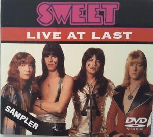 THE SWEET Live at Last, seltene limitierte Promo DVD von Konzert 1973, Rarität!