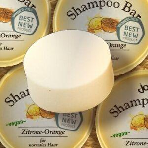 Jolu Shampoo Bar ZITRONE ORANGE 50g Ökotest Sehr Gut plastikfrei vegan zerowaste