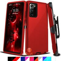 For Samsung Galaxy Note 20 20 Ultra Shockproof Defender Case Cover w/ Belt Clip