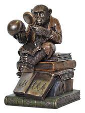 Veronese Bronze Figurine Animal Ape Thinker Trinket Box Statue Home Decor