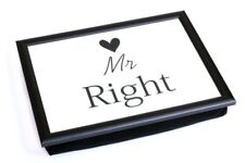 Mr Right With Heart Lap Tray Serving Bean Bag TV Bed Soft Cushion Padded Food