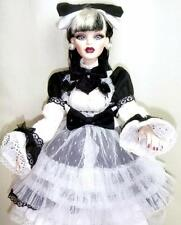 "Black & White Parnilla Ghastly 19"" Evangeline Doll Tonner Gothic Glam BJD Outfit"