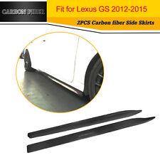 2PCS Auto Bodykit Carbon Fiber Side Skirts Fit For 2012-2015 Lexus GS350 4D