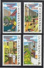 SINGAPORE 1997 PUBLIC HOUSING UPGRADING COMP. SET OF 4 STAMPS SC#804-807 IN MINT