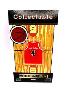 Chicago Bulls Jerry Sloan jersey lapel pin-Classic throwback Collectable