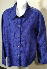 Chico's Silk Embroidered Blouse Size 3 (L-XL)