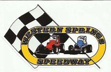 Western Springs Speedway Speedcar/ Midget 1975 Vintage Speedway Sticker