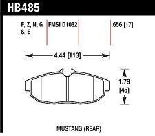 HAWK HB485Z.656 PERFORMANCE BRAKE PADS 05-10 V6 GT BULLITT SHELBY GT500 & 500KR