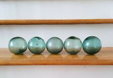 """Japanese Glass Fishing net Floats 4"""" Buoy Balls Authentic lot group"""