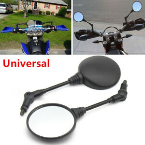 2PCS Folding Rear Mirror Universal For Motorcycle Dual Sport/ Dirt Bikes/ATV