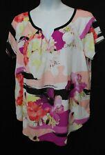 WOMEN'S PLUS SIZE 1X 16W WORTHINGTON FLOWING SUMMER BLOUSE - CLOTHING NEW