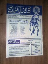 1982 FOOTBALL LEAGUE TROPHY Chesterfield V Shrewsbury Town