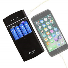 Battery Operated Portable Power Bank USB Charger AA AAA Rechargeable Batteries