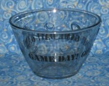 Anchor Hocking Game Day Football Baseball Sports Large Glass Chip Snack Bowl 4L