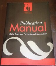 PAPERBACK BOOK Publication Manual Of The American Psychological Association 2003
