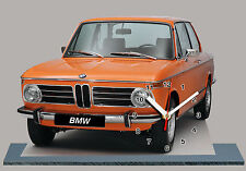 MODEL CARS, BMW 2002-tii orange -02, car passenger,11,8x 7,8 inches  with Clock
