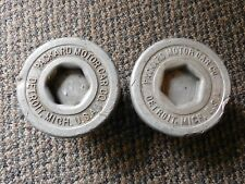 Old Vintage Antique Packard Motor Car Co. Detroit Michigan Grease Wheel Hub Caps