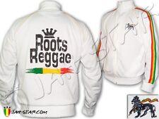 Rasta Felpa Giacca Roots Reggae Rastafari Jamaica Lion Ricamato