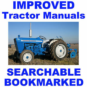 Ford 3000 Tractor SERVICE REPAIR, OPERATOR, PARTS -8- MANUALS 1965-75 IMPROVED
