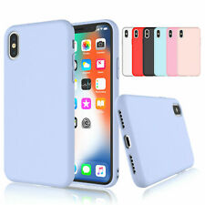 Soft Gel Liquid Silicone Case for Apple iPhone SE, XS Max, 8 Plus, 7
