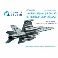 Quinta Studio 48051 Boeing F/A-18F late / EA-18G Hornet  1:48 3D Printed Decal