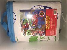 Marvel Super Hero Adventures Avengers 4-Piece Toddler Bed Set Spider-man Hulk