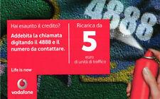 *3235 SCHEDA RICARICA USATA VODAFONE SPRY 5 31 12 2012 OCR 28 CAB 26