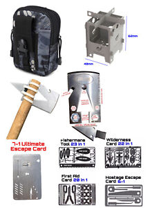 PRO Survival Kit Escape Hunting Fishing First Aid Stove Hunting Bushcraft